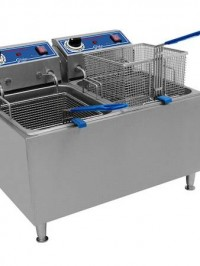 double deep fryer large