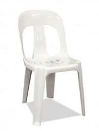 white plastic chair for hire