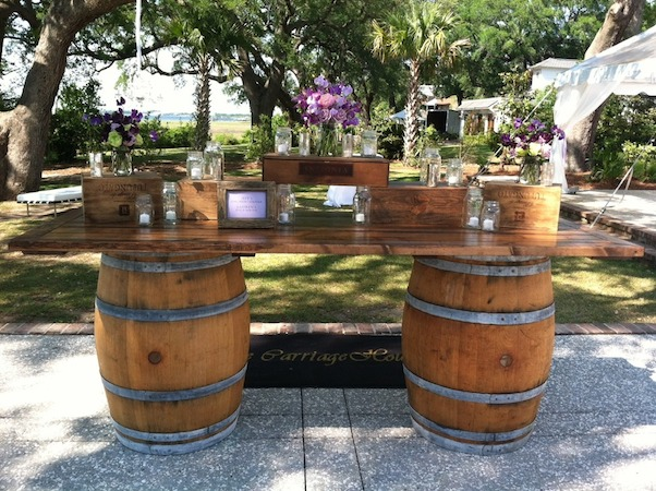Wine Barrel Food Or Drink Station Marquee Hire Wedding