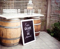 barrel drink stand