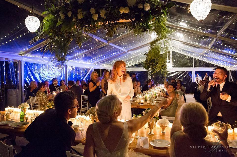 Clear Marquee Reception Fairy Lights Marquee Hire Wedding Tent