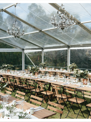 clear marquee wedding 1