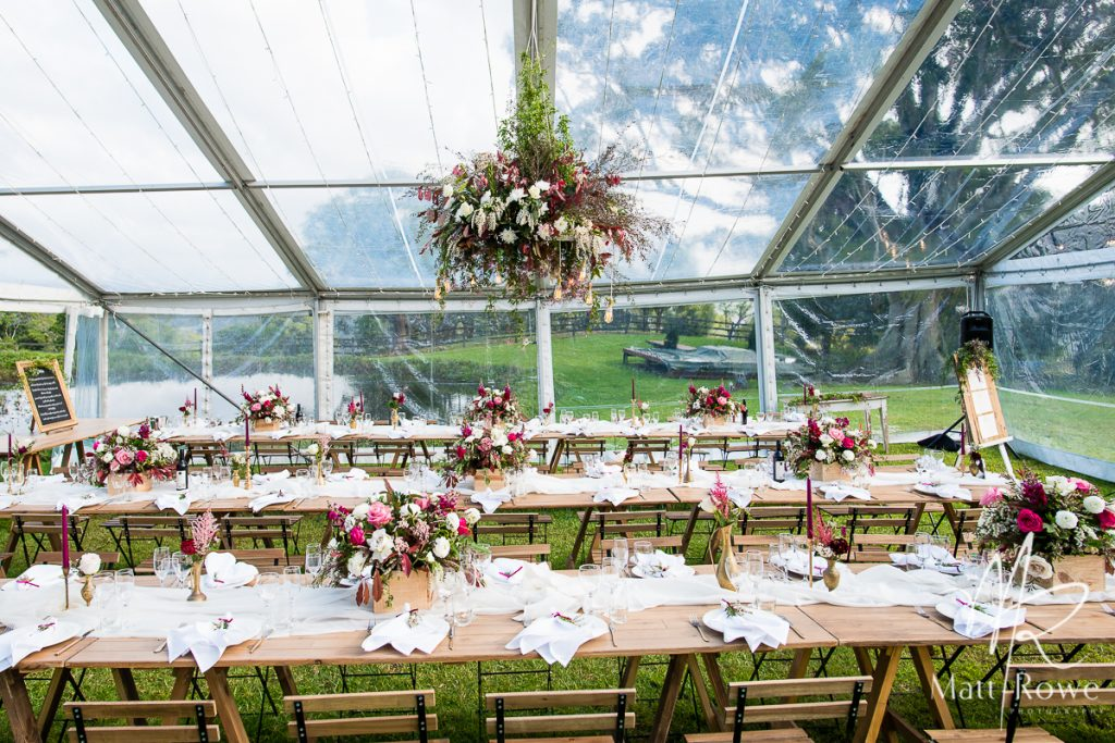 Clear Marquee And Fairy Lights Marquee Hire Wedding