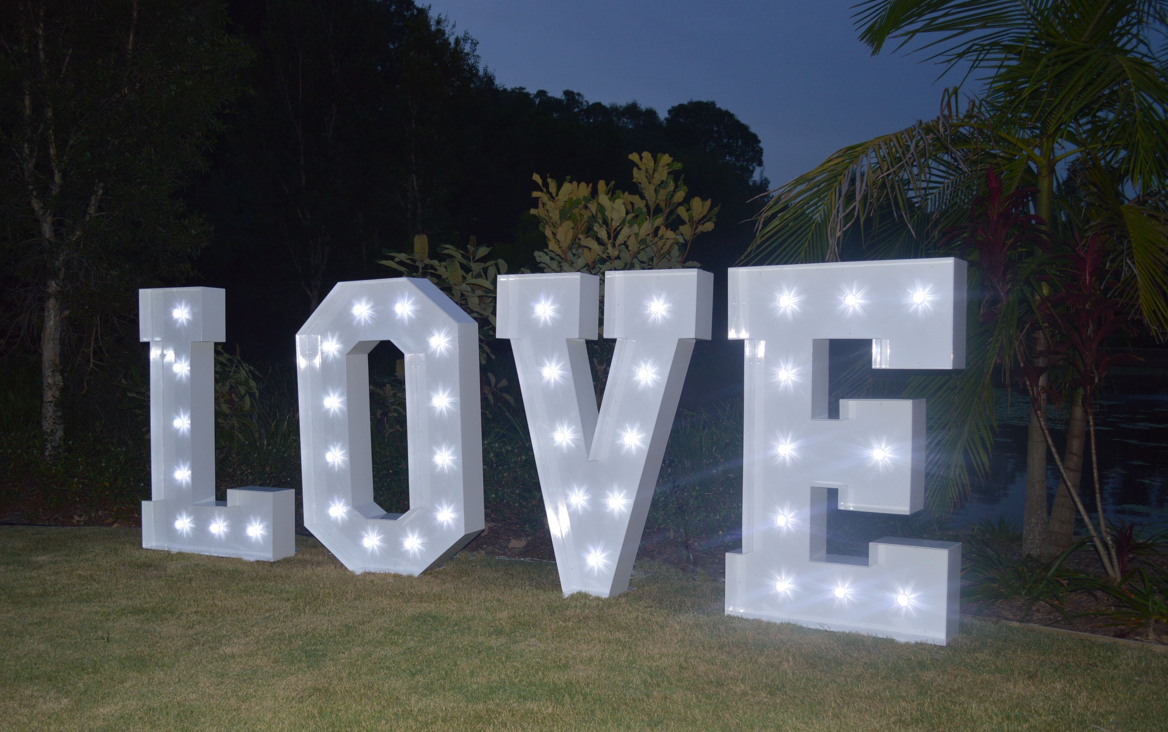 Illuminated Letters Perry S Sunshine Coast Event Hire