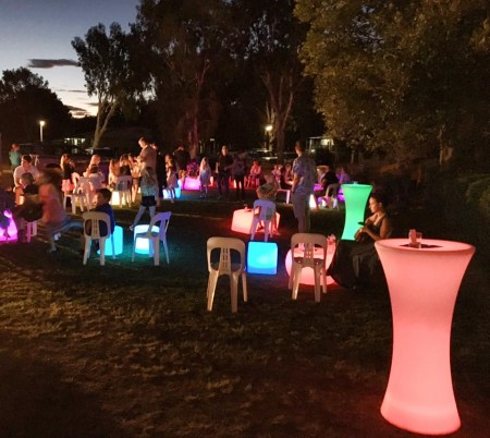 glow furniture for hire