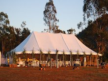 peg and pole sunset hire marquee