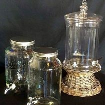 mason jar drink dispensers for hire