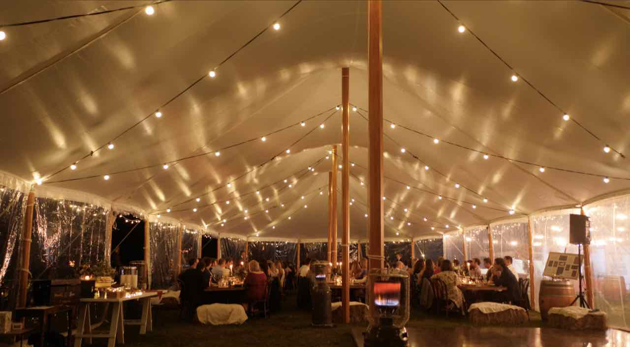 Perrys-Hire-Aurora-Sailcloth-peg-and-pole-Marquee