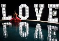 Wedding decoration - Illuminated letters LOVE