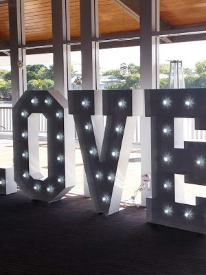 giant letters love reception